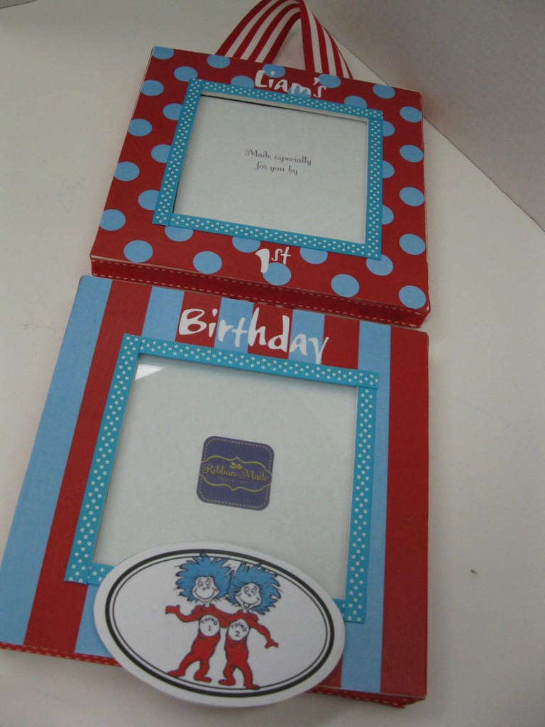 1st Birthday Hanging Frame - Thing 1 and Thing 2
