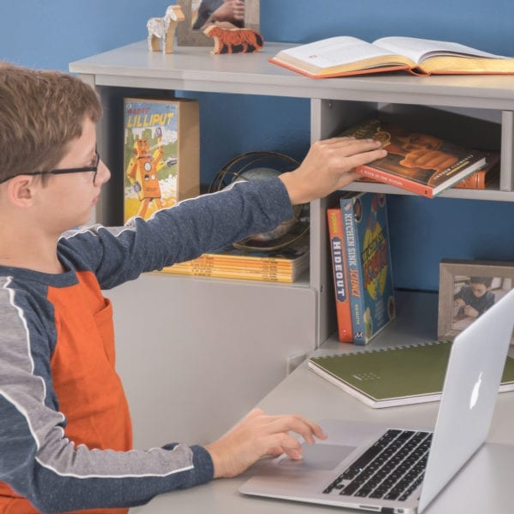 Martha Stewart Living and Learning Kids' Media System with Desk Extension – Gray