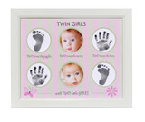 Twin Girls Handprint and Footprint Frame
