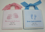 Twins Birth Announcement Plaque Set