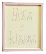 Vintage Wall Sign - Hugs and Kisses