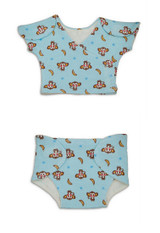 Blue Monkey Preemie Vest and Diaper Cover
