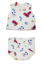Dog and Firetruck Preemie Vest and Diaper Cover