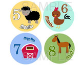 Baby Monthly Photo Stickers: Farm Collection