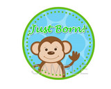 Baby Monthly Photo Stickers: Monkey Business