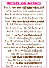 Waterproof Name Labels: Love Bird Collection