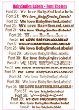 Waterproof Name Labels: Sunny Days