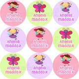 Waterproof Name Labels: Cute Girl Design