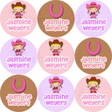 Waterproof Name Labels: Cowgirl