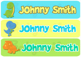 Rectangular Waterproof Name Labels: Dinosaur Collection