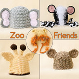 Zoo Animal Hats (Set of 3)