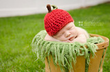 Chunky Red Apple Knitted Hats (Set of 2)