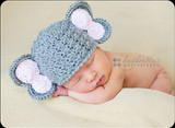 Knitted Elephant Hats (Set of 2)