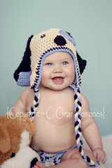Knitted Puppy Hats (Set of 2)