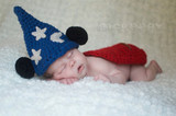 Newborn  Knitted Sorcerer Mouse Hooded Capes (Set of 2)