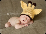 Knitted Giraffe Hats (Set of 2)