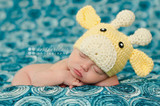 Knitted Giraffe Beanies (Set of 2)