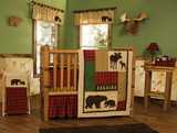 Northwoods 3 Piece Crib Bedding Set