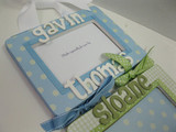 Triplet 4x6 Wood Hanging Frames With Names