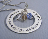Infinity Necklace for Mom with Charms
