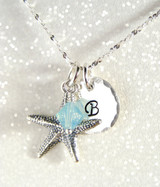 Personalized Initial Starfish Necklace