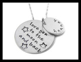 Personalized Love You To The Moon and Back Necklace