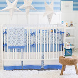 Blue and White Baby Bedding | Carousel Crib Collection