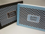 Twin Boys Keepsake Boxes- Personalized (Blue and Brown)