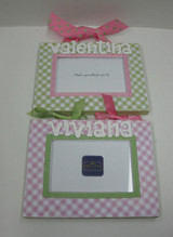 Customizable Gingham Frames for Twins - Personalized