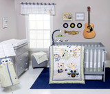 Safari Rock 6 Piece Crib Bedding Set