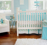 Aqua Baby Bedding | Follow Your Arrow in Aqua Crib Collection