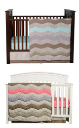 Cocoa Mint and Coral Matching Bedding Sets