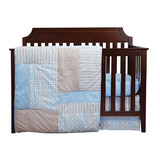 Blue and Green Matching Baby Bedding Set for Twins