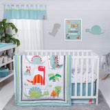 Dinosaur Roar 3 Piece Crib Bedding Set