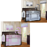 Pink and Gray Modern 20 Piece Crib Bedding Set