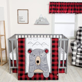Peak-a-Bear 3 Piece Crib Bedding Set