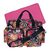 Bohemian Floral Deluxe Duffle Style Diaper Bag