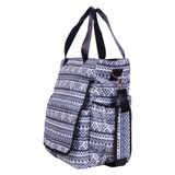 Black and White Aztec Tote Diaper Bag