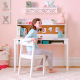 Martha Stewart Living and Learning Kids' Desk with Hutch and Chair