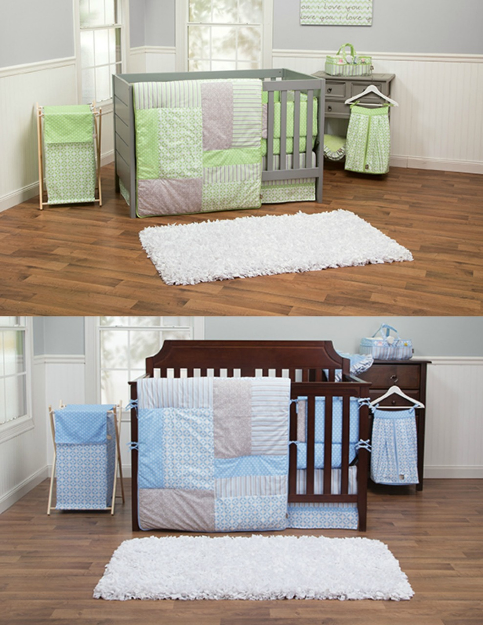 Blue And Green Nursery Bedding Sets For Twins