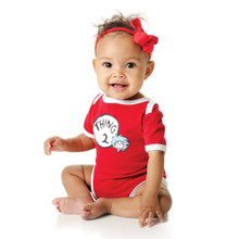 Thing 1 and Thing 2 Baby Bodysuit Set
