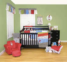 Dr Seuss Cat in the Hat 3 PC Crib Bedding Set