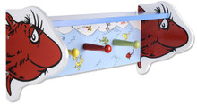 Dr Seuss One Fish Two Fish Shelf and Clothes Hanger