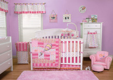 """Dr Seuss """"Oh the Places You'll Go"""" 3PC Crib Bedding Set (Pink)"""
