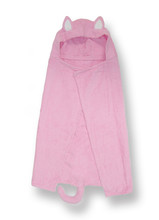 Pink Kitty Character Hooded Towel
