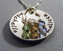 Personalized Mommy Necklace with Charms