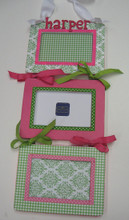Green and Pink Triple Frame