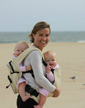 Twingaroo Twin Baby Carrier and Diaper Bag- Khaki
