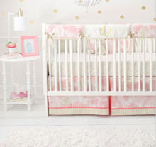 Pink and Gold Crib Rail Cover Set | You Are Magic in Pink Collection