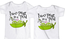 Two Peas in a Pod Twin Shirt Set
